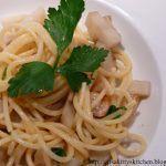 Spaghetti calamari e topinambur