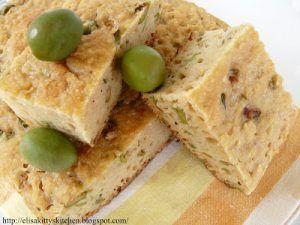 Focaccia alle olive con pasta madre