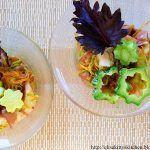 Polpo in insalata di zucchine e pesto di basilico rosso al pistacchio