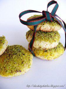 Biscotti alle mandorle e pistacchi di Bronte tritati