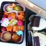 Bento box con polpette di tofu