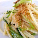 La cucina naturale: Spaghetti con puntarelle e briciole