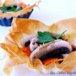 Tartellette con robiola champignon e zucca