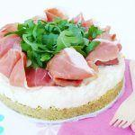 Cheesecake stracchino, crudo e rucola