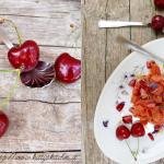 Tartare di salmone selvaggio, ciliegie di Marostica e salsa tahin alla menta & #vicenzaqualità