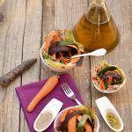 Insalata di carote bicolore con tahin, miele e finocchietto