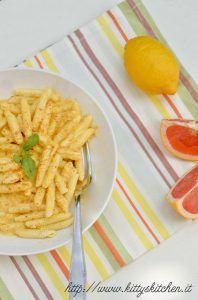 """Maccheroncini al pesto di agrumi per """"Fornelli da Chef"""""""