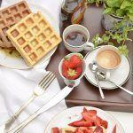 Waffle for breakfast