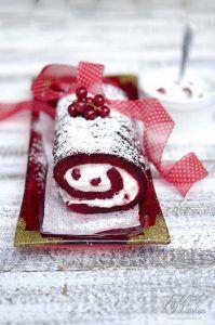 Red Velvet Christmas Roll