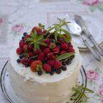 Three layer fruit cake