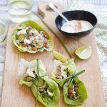 Tacos di lattuga e farro