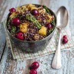 Quinoa rossa con cavolo zucca e cranberries