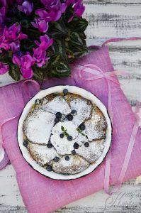 Plumcake Pudding mele e mirtilli