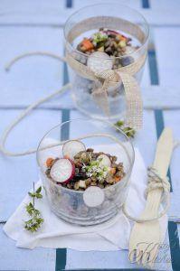 Lenticchie, tahina e prugne secche