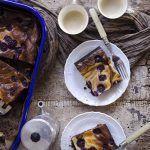 Brownie cheesecake ai mirtilli