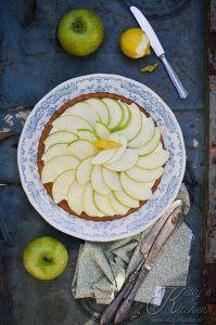 crostata morbida cioccolato bianco e mela verde
