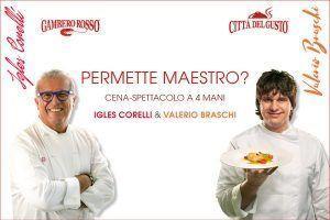 Igles Corelli e Valerio Braschi insieme al Gambero Rosso