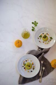 Flan di broccoli con zucca e olive taggiasche